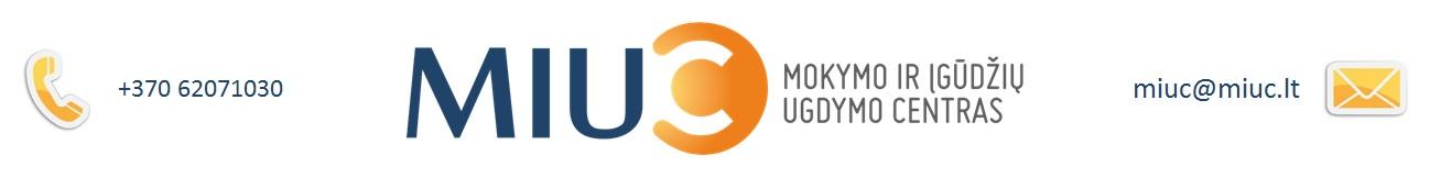MIUC – Mokymo ir igudziu ugdymo centras – Liana Mogišaitė Liana Mogisaite logo