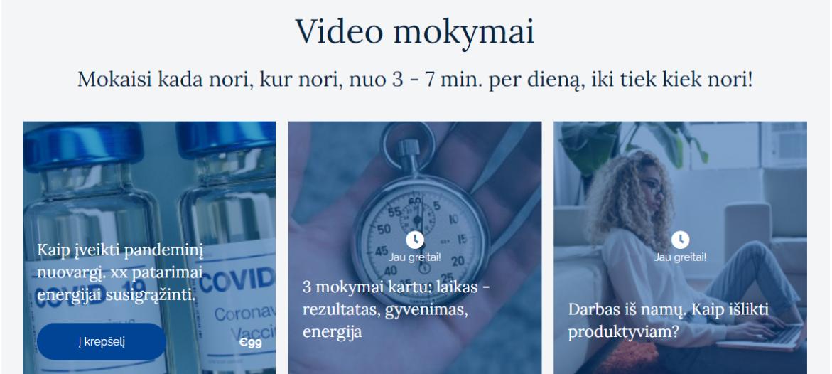 Naujiena! Video mokymai nuo 3 minučių per dieną